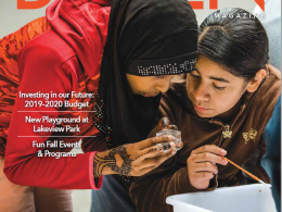 Burien Magazine cover. Two girls science experiment outside.