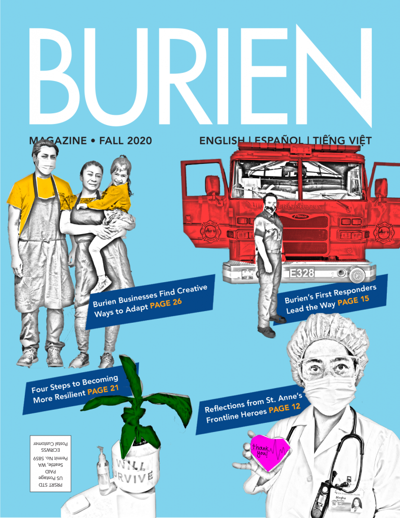 Cover of Fall 2020 Burien Magazine.