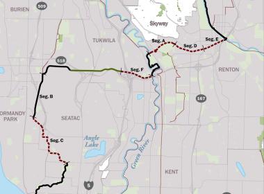 Lake to Sound Trail Map.