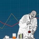 Illustration of scientist in lab