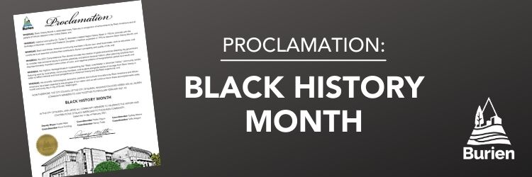 City of Burien Black History Month proclamation.