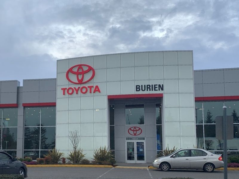 Front of business. Burien Toyota.