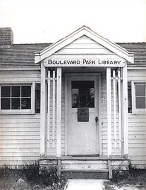 Boulevard Park Library door.
