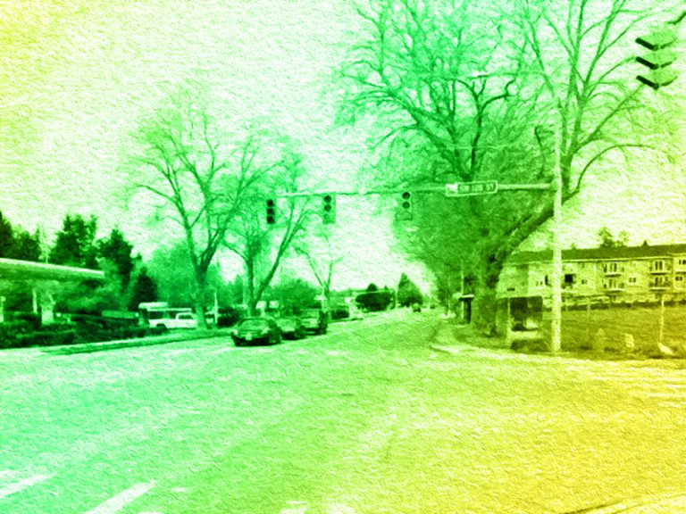 Intersection of Ambaum Boulevard and SW 128th Street in Burien, WA