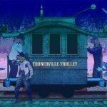 Artwork depicting Toonerville Trolley.