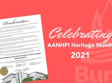 Image of City of Burien's AANHPI Heritage Month proclamation for 2021.