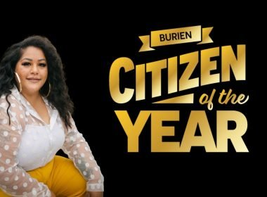 Woman sitting down. Burien Citizen of the Year.