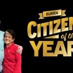 Two people. Burien Citizen of the Year.